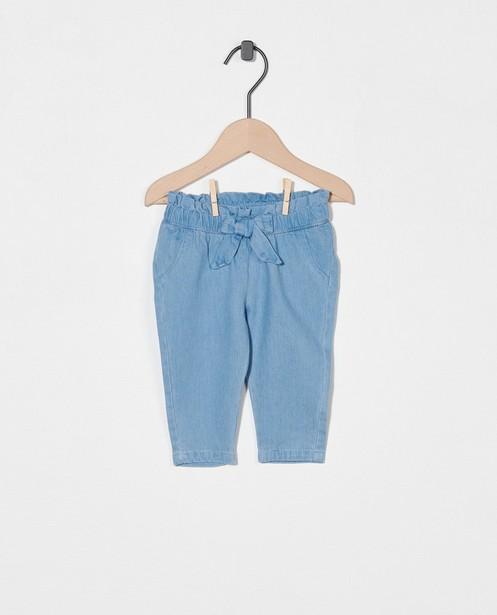 Pantalon bleu avec un nœud - taille élastique - Newborn