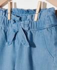 Pantalons - Pantalon bleu avec un nœud