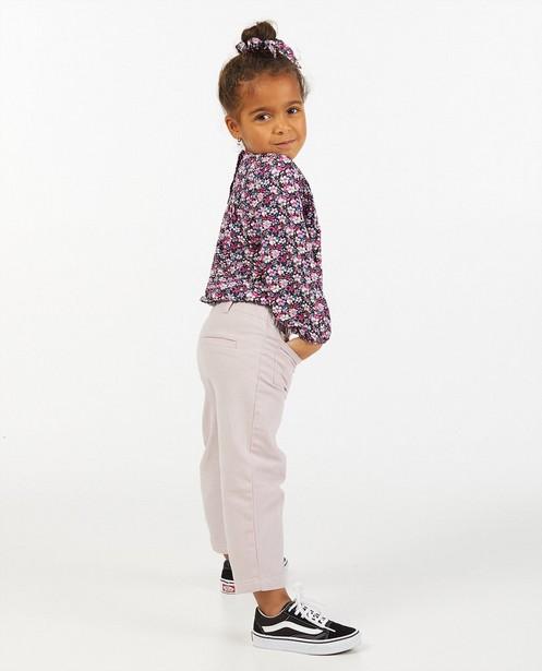 Blauwe blouse met bloemenprint - allover - Milla Star