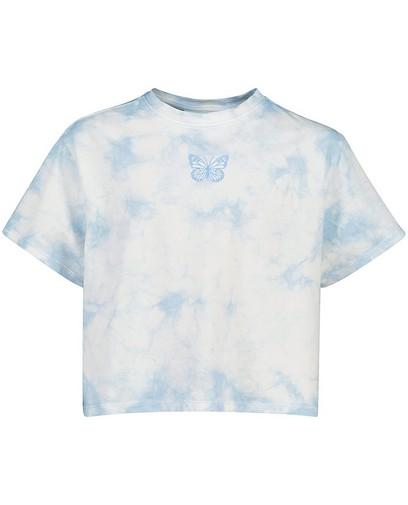 Tie dye T-shirt in blauw Elisa Bruart