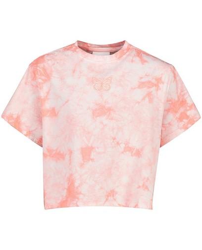 Tie dye T-shirt in roze Elisa Bruart