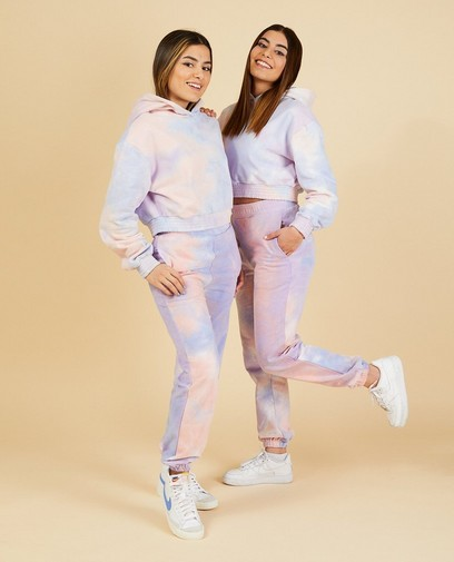 Cropped tie dye hoodie Nour en Fatma