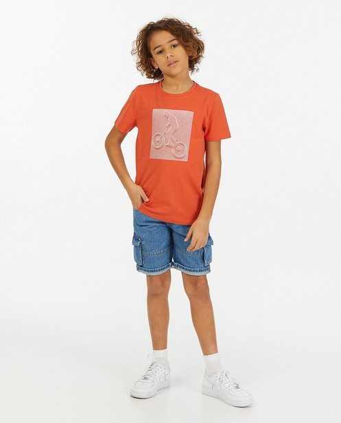 T-shirt met line art BESTies - stretch - Besties