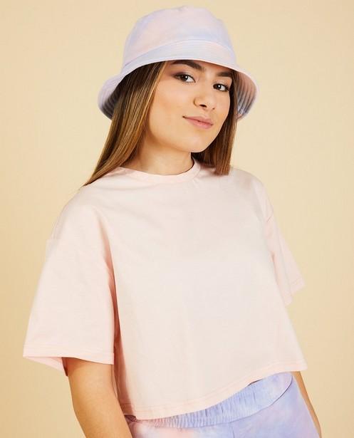 T-shirt court rose Nour & Fatma - en coton bio - Nour en Fatma