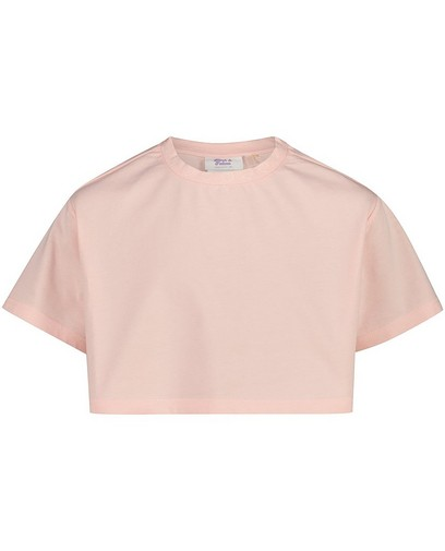 Cropped roze T-shirt Nour en Fatma