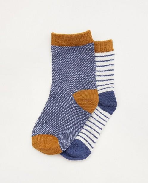 Lot de 2 paires de chaussettes pour bébés bleues - et brunes - Cuddles and Smiles