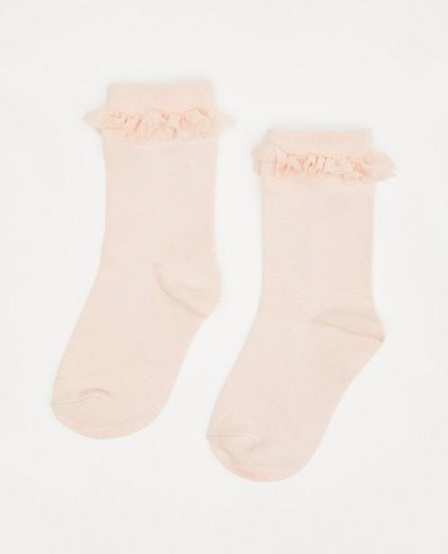 Chaussettes roses avec des ruches - en tulle - JBC