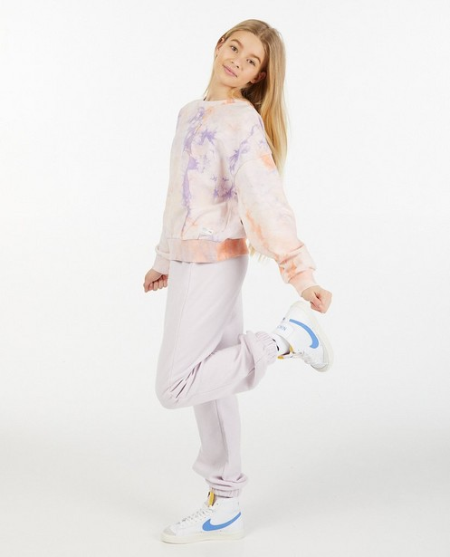 Lila-roze tie dye sweater - stretch - Groggy
