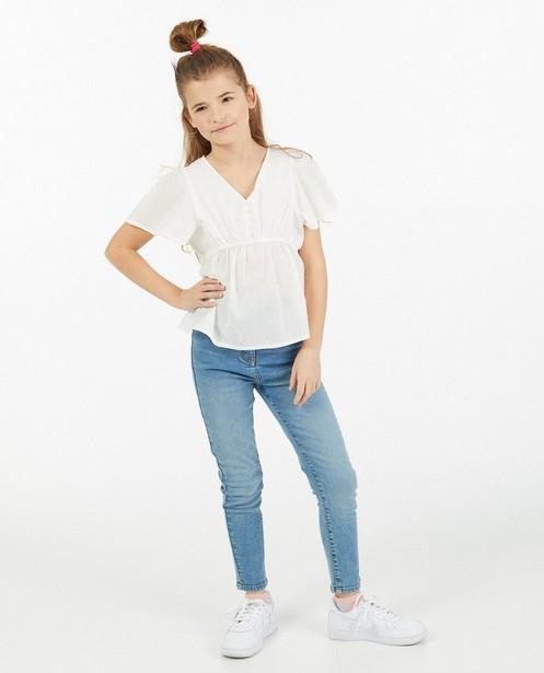 Witte blouse Elisa Bruart - cropped - Elisa Bruart