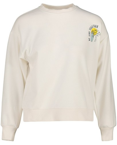 Offwhite sweater met print