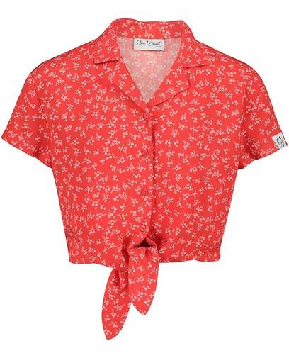 Rode blouse met print Elisa Bruart