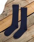 Hoge kousen in blauw Communie - met verticale naden - JBC