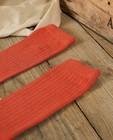 Chaussettes - Chaussettes hautes couleur brique Communion