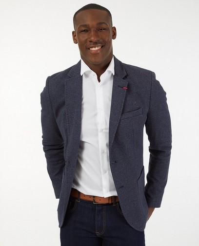 Blauwe blazer met print Lerros