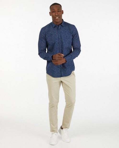 Donkerblauw hemd met print Lerros - allover - Lerros