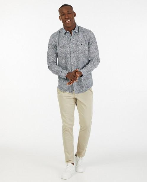 Wit hemd met print Lerros - allover - Lerros