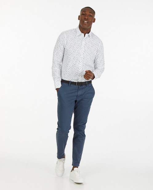 Wit hemd met grafische print - allover - Lerros