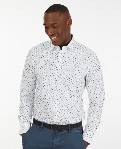 Wit hemd met grafische print