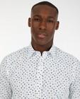 Hemden - Wit hemd met grafische print