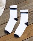 Witte kousen Communie - met blauw - JBC