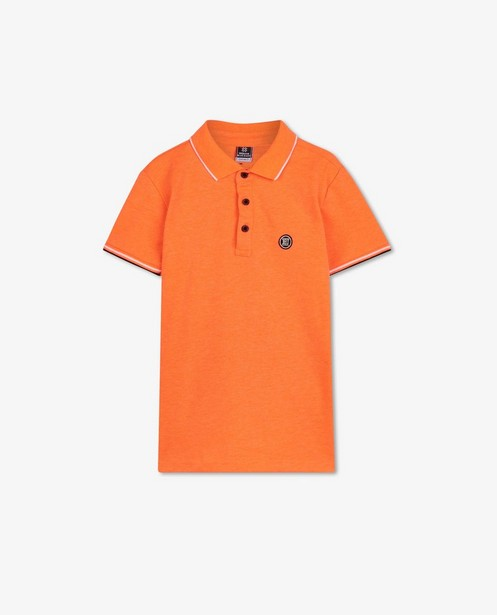 Oranje polo Indian Blue Jeans - met fijne structuur - Indian Blue