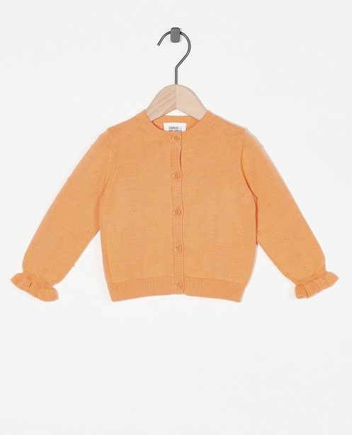 Oranje cardigan Feest - premium - Cuddles and Smiles
