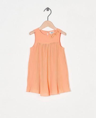 Oranje jurk met bloemen Feest