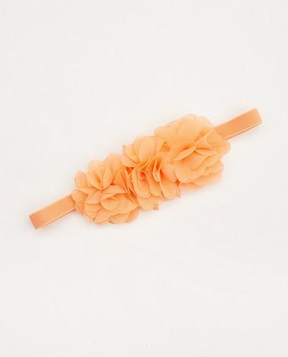 Oranje haarband met bloemen