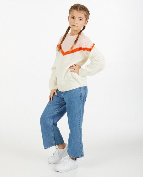 Pull à col en V avec color block - en tricot - Fish & Chips