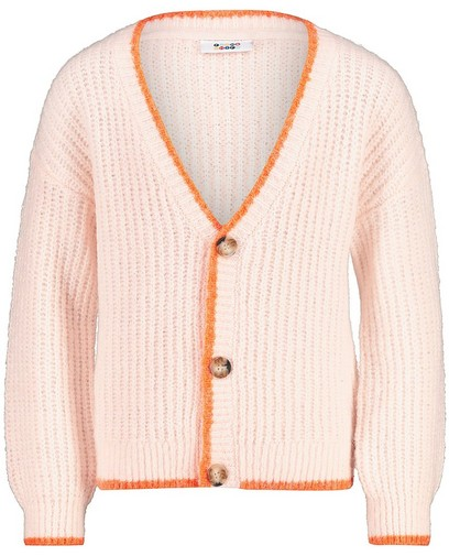 Cardigan tricoté rose