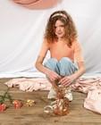 Top orange avec relief côtelé Communion - en fin tricot - Milla Star