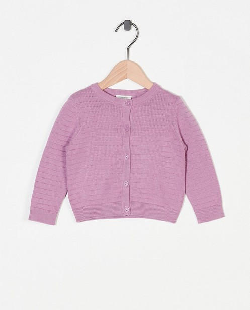 Lila cardigan - van fijne brei - Cuddles and Smiles