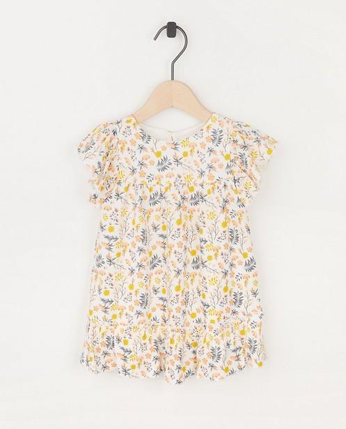 Witte jurk met bloemenprint Feest - allover - Cuddles and Smiles