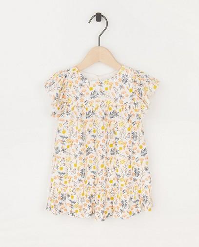 Witte jurk met bloemenprint Feest