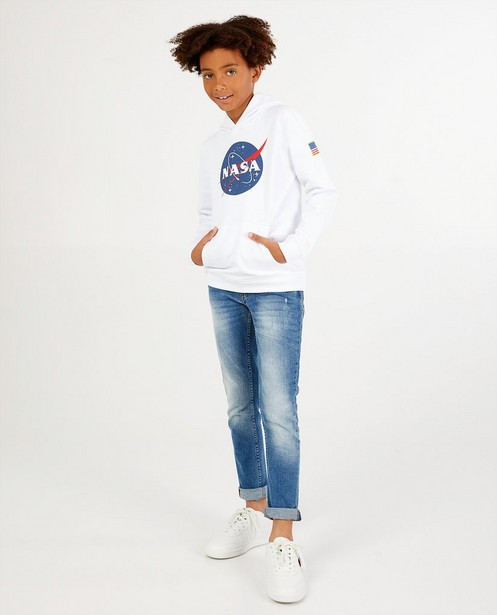 Hoodie blanc NASA à imprimé - stretch - NASA