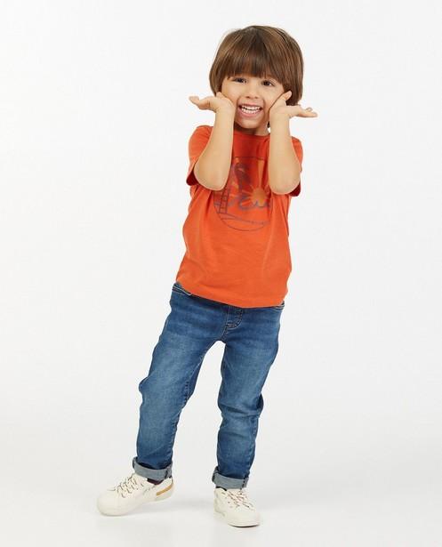Blauwe slim jeans Simon, 2-7 jaar - met verstelbare taille - Kidz Nation