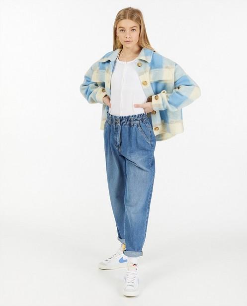 Blauwe slouchy jeans - met verwassen effect - Groggy