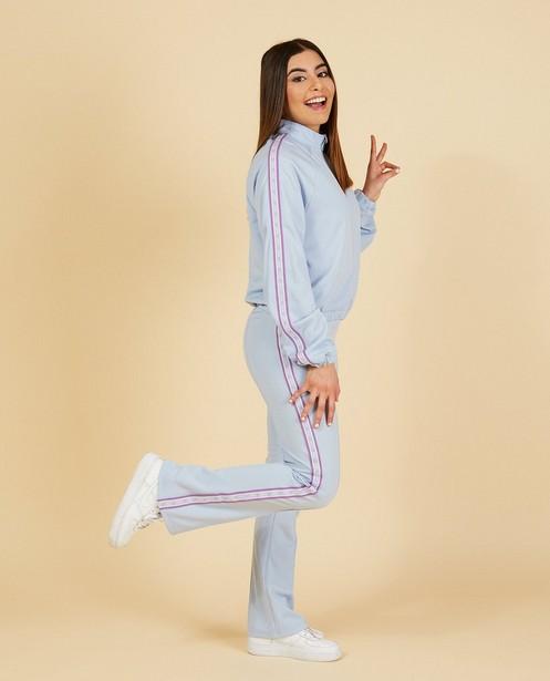 Blauwe jogger Nour en Fatma - fit: bootcut - Nour en Fatma