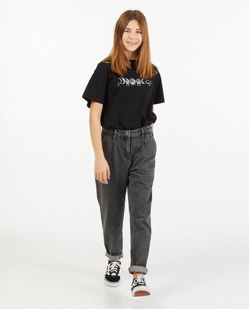 Donkergrijze slouchy jeans - verwassen - Groggy