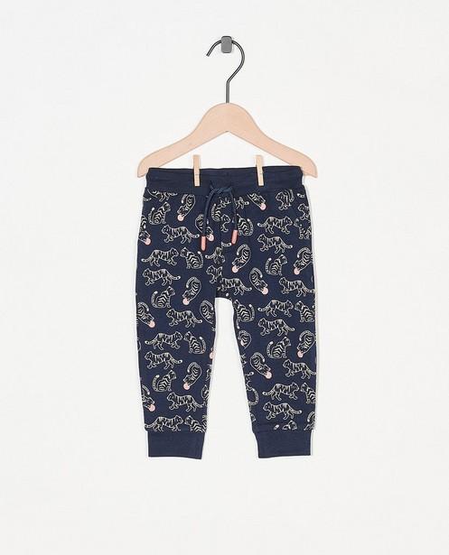Blauwe broek met print - allover - Cuddles and Smiles