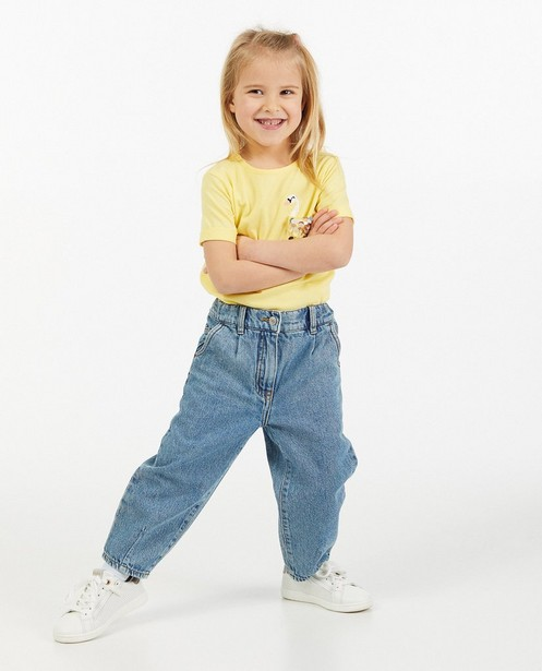 Blauwe jeans met slouchy fit - verwassen effect - Milla Star