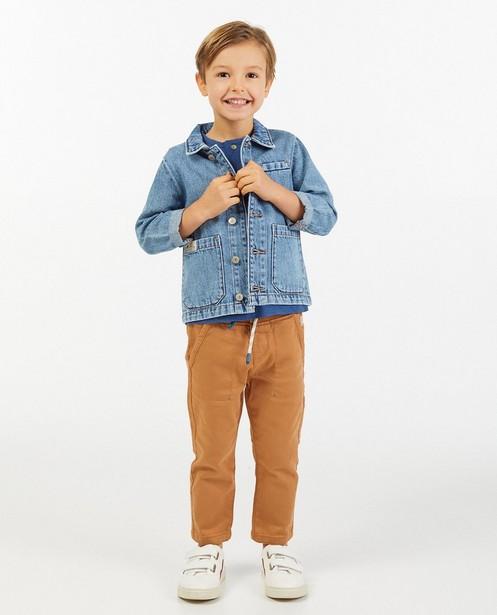 Blauwe jeansjas - met wassing - Kidz Nation