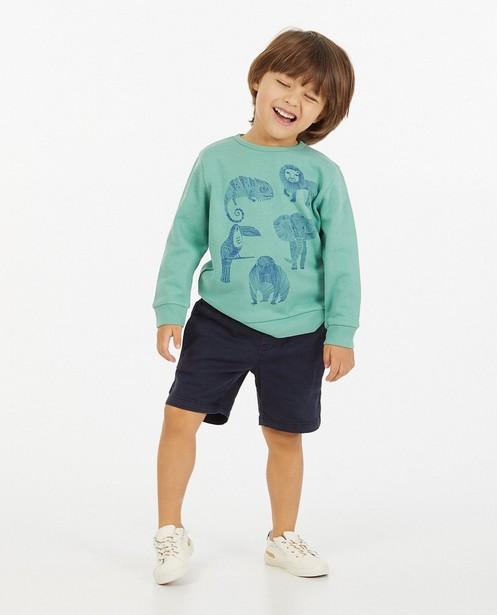 Groene sweater met print BESTies - stretch - Besties