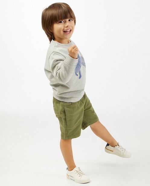 Grijze sweater met print BESTies - stretch - Besties
