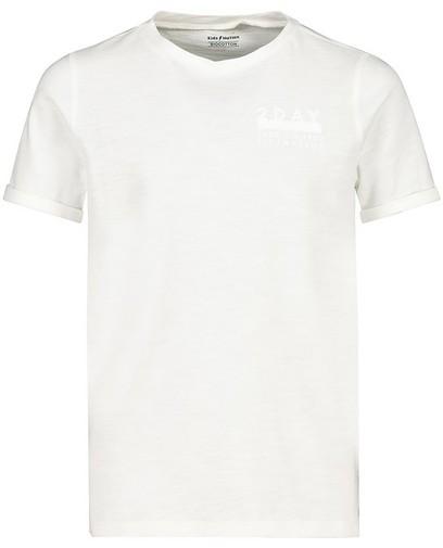 Wit T-shirt met opschrift Communie