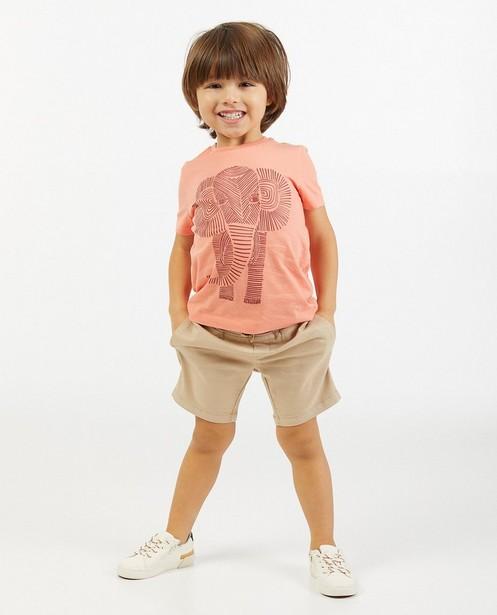 Oranje T-shirt met olifant BESTies - stretch - Besties