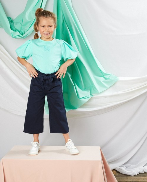 Donkerblauwe culotte Communie - met paperbag waist - Milla Star