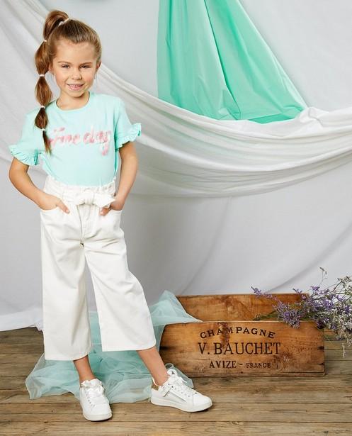 Pantalon blanc Communion - avec ceinture à nouer - Milla Star