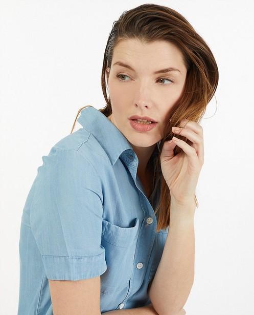 Robe bleue en lyocell Sora - ceinture à nouer - Sora