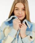 Blazers - Veste légère bleue à carreaux